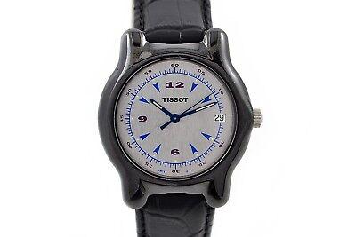 Vintage Tissot Cerámica Estuche Cuarzo Mediano Reloj 948