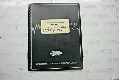 Spectral Dynamics Sd104a-5 Sweep Oscillator Instruction Manual