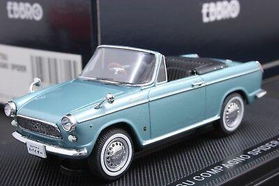 Ebbro 43715 1:43 Scale Daihatsu Compagno Spider 1965 Die Cast Model Car Blue