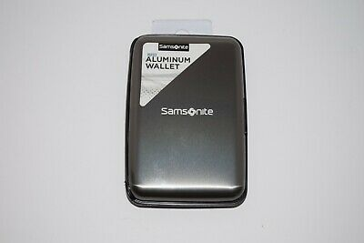 Samsonite RFID Aluminum Wallet Case Gun Metal Grey