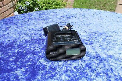 SONY ICF-C05IP 30 PIN IPHONE IPOD CLOCK RADIO SPEAKER DOCK CELL PHONE CHAGER