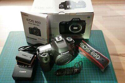 Canon EOS 80D 24.2 MP DSLR-Kamera - Schwarz (1263C027), nur Gehäuse