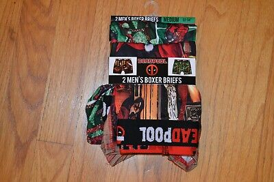 Marvel Deadpool 2pk Holiday/Christmas Boxer Briefs Men's Size: Medium (32-34)