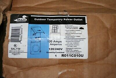 Meter Socket Temporary Power 100 Amp 1space 2-outlets Plug In Mount Load Center
