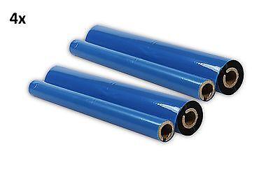 4x Inkfilm kompatibel für Brother Fax 1010 1020 1030 1170 1270 1570 / PC-202RF