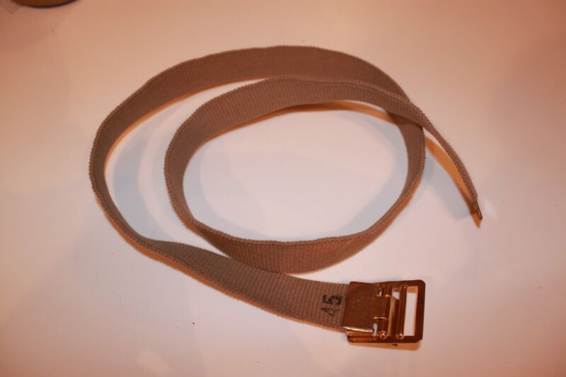Military, USMC Tan Belt with New Buckle