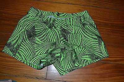 EUC Motionwear Women's Dance Shorts Size Medium Adult Green Black