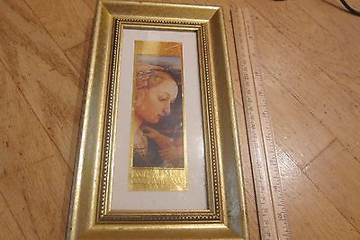 BEAUTIFUL GOLD FOIL REPRODUCTION OF BOTTICELLI AND LIPPI MASTERPIECE IN FRAME