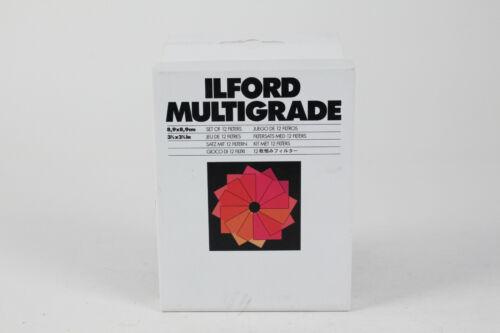 "ILFORD MultiGrade Box Set of 12 Gelatin Filters 3.5""x3.5"" - New in sealed box"