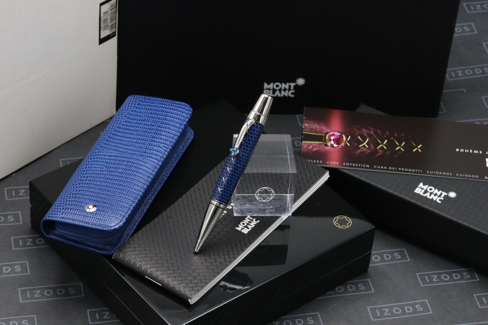 Montblanc Boheme Jewels Topaz Leather Ballpoint Pen and Pouch