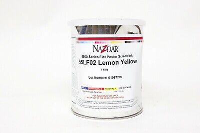 Nazdar 5500 Series Flat Poster Screen Ink 1 Kilo 55lf02 Lemon Yellow - Dented