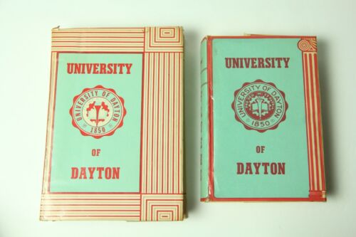 2 University of Dayton Vintage College Textbook Covers c1950 Rudy Flyers