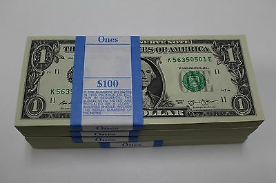 2013 Sequential Collectible Pack Of 100 New Uncirculated   1 One Dollar Bills