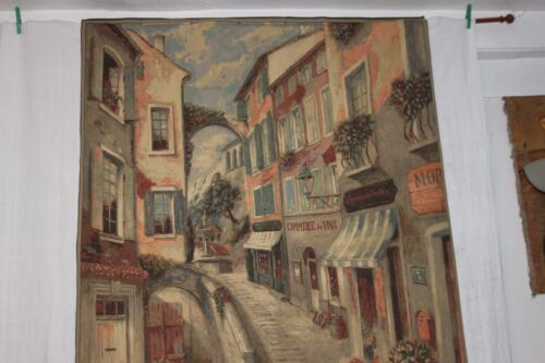 Large tapestry signed Fabrice of villeneuve. 110 x195. Year 70. 80