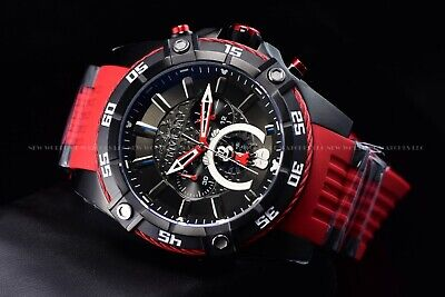Invicta 52mm Disney Micky Mouse Lim Ed Bolt Viper Chrono Red Black Combat Watch