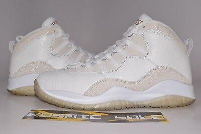 buy popular 673ad 362af Nike Air Jordan 10 Retro OVO White Style   819955-100 Size 9