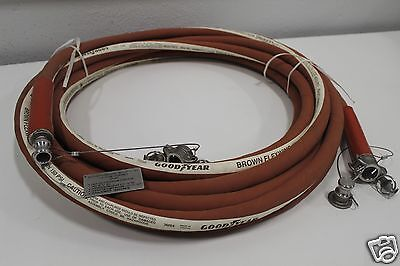 (GOODYEAR Brown Flexwing Chemical Chemrin Suction Hose 1/2