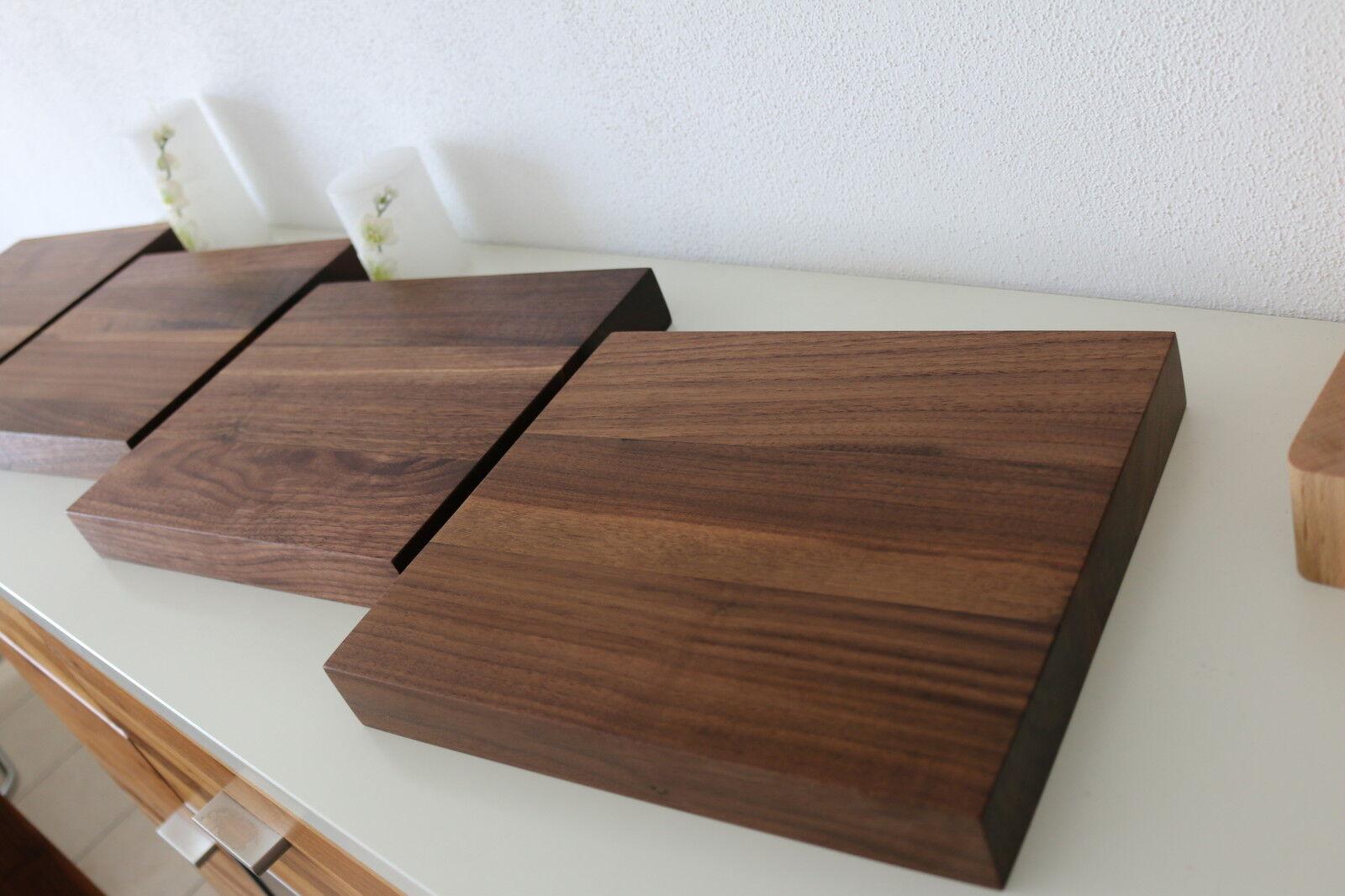 4x wandboard nussbaum massiv holz board regal steckboard regalbrett neu auf ma eur 245 00. Black Bedroom Furniture Sets. Home Design Ideas