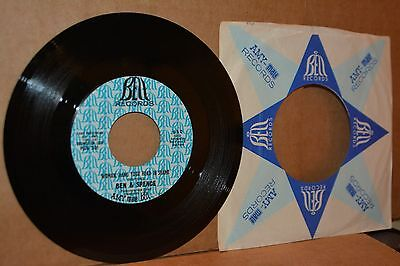 BEN & SPENCE: WOMAN HANG YOUR HEAD IN SHAME; BELL MINT- NORTHERN SOUL PROMO 45