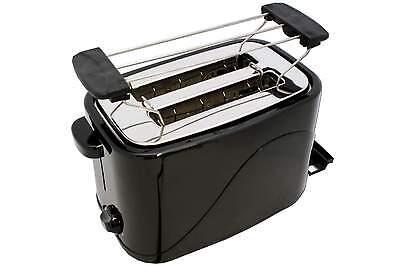 Toaster COOK 4 YOU schwarz mit Brötchenaufsatz 700 W 2 Scheiben Krümelschublade