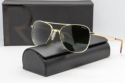 Randolph Engineering Aviator Sunglasses Gold frame/AGX Glass lens 55mm RE (Randolph Aviator Glasses)