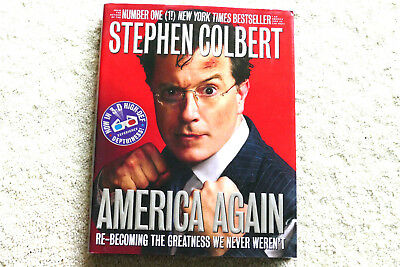 Stephen Colbert America Again 3 D Glasses 1St Ed  Illust Vgc Political Satire