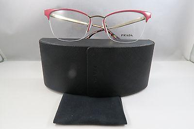 Prada VPR 65Q PDN-1O1 Pink/Havana/Gold New Authentic Eyeglasses 51mm w/Case