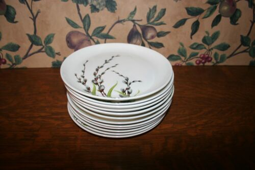 """12-VINTAGE WS GEORGE PUSSY WILLOW PATTERN--SALAD PLATES (7-1/4"""")"""