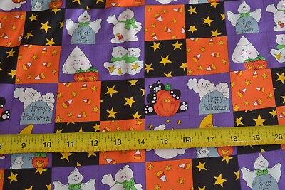 By 1/2 Yd, Colorful Halloween Scenes on Quilting Cotton, JoAnn, N581 (Halloween 1 Scenes)