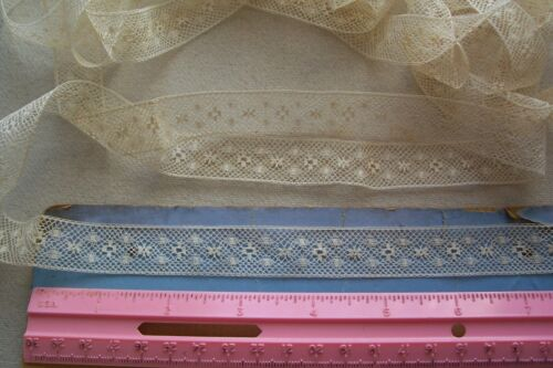 Vtg Cotton  Insertion lace trim  for Antique French German Bisque  Doll 4 yds +