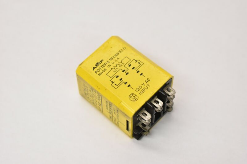 Potter & Brumfield CUF-42-70010 Time Delay Relay 10A 120V
