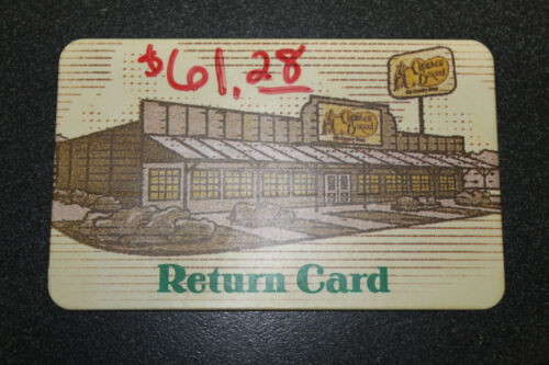 Cracker Barrel $61.28 Gift Card!  Funds Verified as of 03/03/2021!!!