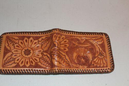 Shriner Mason Masonic Symbol Vintage leather wallet