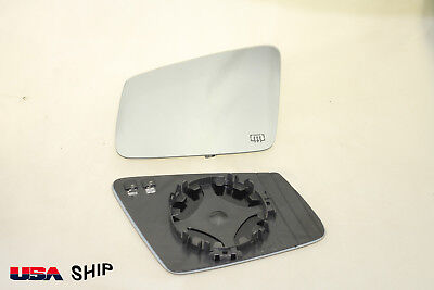 (Flat Side Mirror Glass W/Holder Heated FOR Mercedes W204 W212 W221 Driver Side )