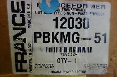 France Electric Sign Part 12030 Pbkmg- Outdoor Type 5 Neon Transformer Nib