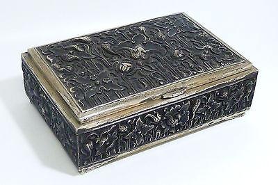 Zigarrendose/Zigarettendose-Kiste/Etui. 800/Silber-525gr.aus den 1930iger Jahren