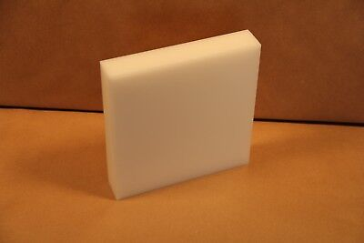 1.25 Delrin Block Natural Acetal Sheet 6.75x7 Cnc Millstock Plastic 3751