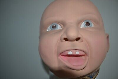 Happy Baby Halloween Mask (Happy Baby Mask Full Head Face Latex Scary Mask For Halloween Party)