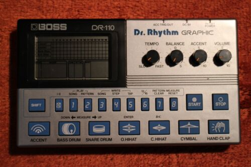 USED BOSS DR-110 Dr.Rhythm DR 110 Drum Machine Sequencer 494200 180921