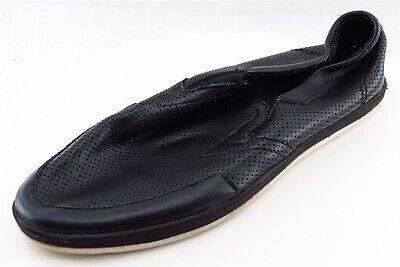 Steve Madden Loafers Black Leather Men Shoes Size 9.5 Medium (D, M)