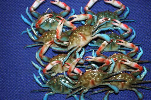 (10) Realistic Blue Crab Replicas 3 3/4 inch, Crab Shack Crab Display