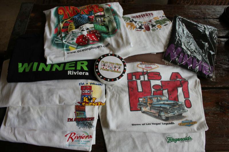 11 OLDER VINTAGE NEVER WORN casino t shirts