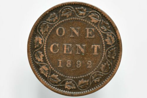 1892 Canadian Bronze Large Cent KM# 7