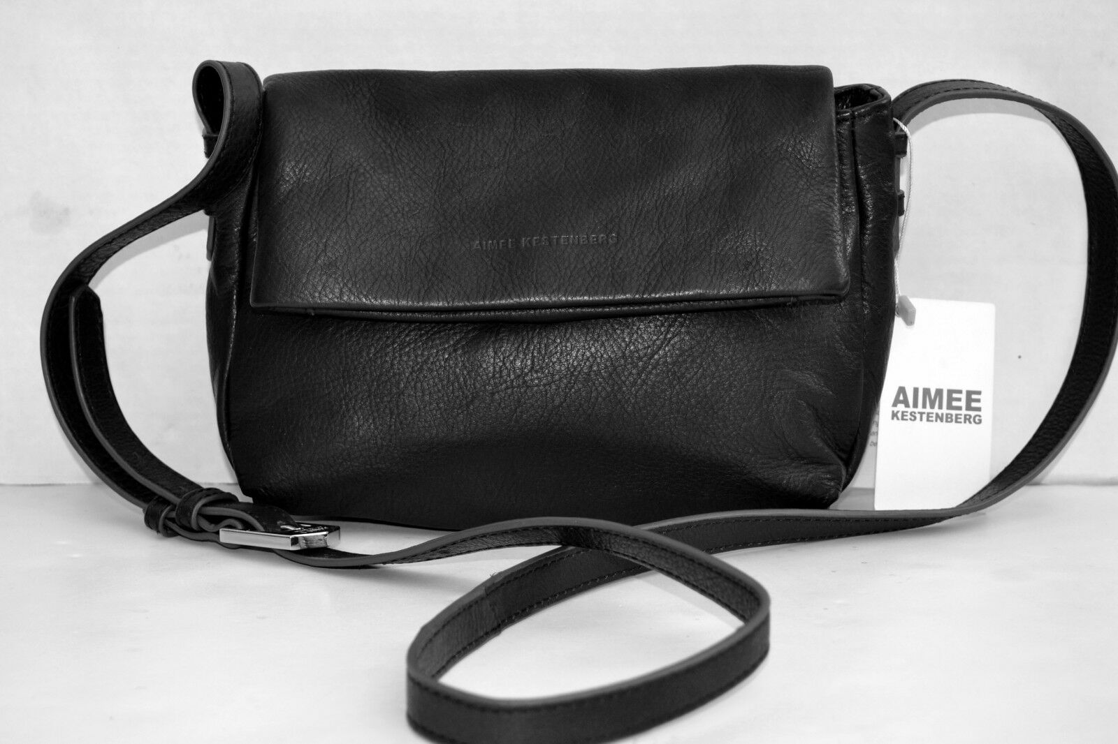 Aimee Kestenberg Bali Double Entry X-body Bag Handbag Leathe