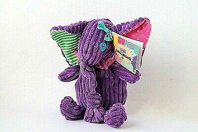 Les Deglingos Elefant Sandykilos Lila Cord Plüschtier Stofftier Schmusetier ()