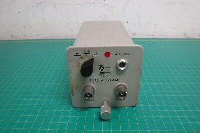 Princeton Applied Research Type A Preamp A. C. Bal Pre-amplifier