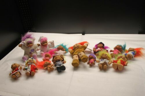 15 Vintage RUSS Troll Dolls LOT