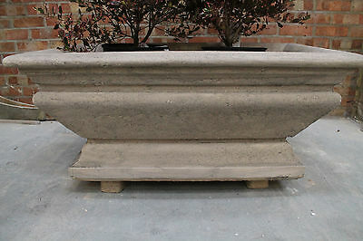 GARDEN  URNS STONE GEORGIAN TROUGH GARDEN TUB PLANTER