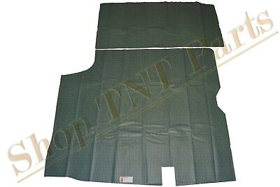 1966-67 Cutlass Skylark Trunk Mat Liner Vinyl W/ Soft Fleece Aqua Houndstooth  67 Buick Skylark Trunk
