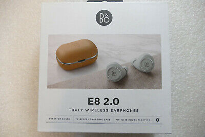 Bang & Olufsen Beoplay E8 2.0 True Wireless Earphones Qi Charging, Natural NEW